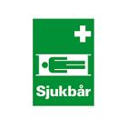 Cupola Skylt: Sjukbår - Efterlysande, dubbelsidig (Alu)